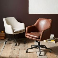 Wooden Leather Desk Chair Balance Ball Chairs For The Office Helvetica West Elm