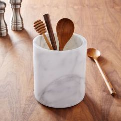 Kitchen Utensils Holder Food Storage Marble Utensil West Elm