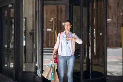 Mature woman on a shopping spree