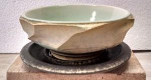 "Richard Aerni ""Facet Bowl with Saucer"" ceramic $56."