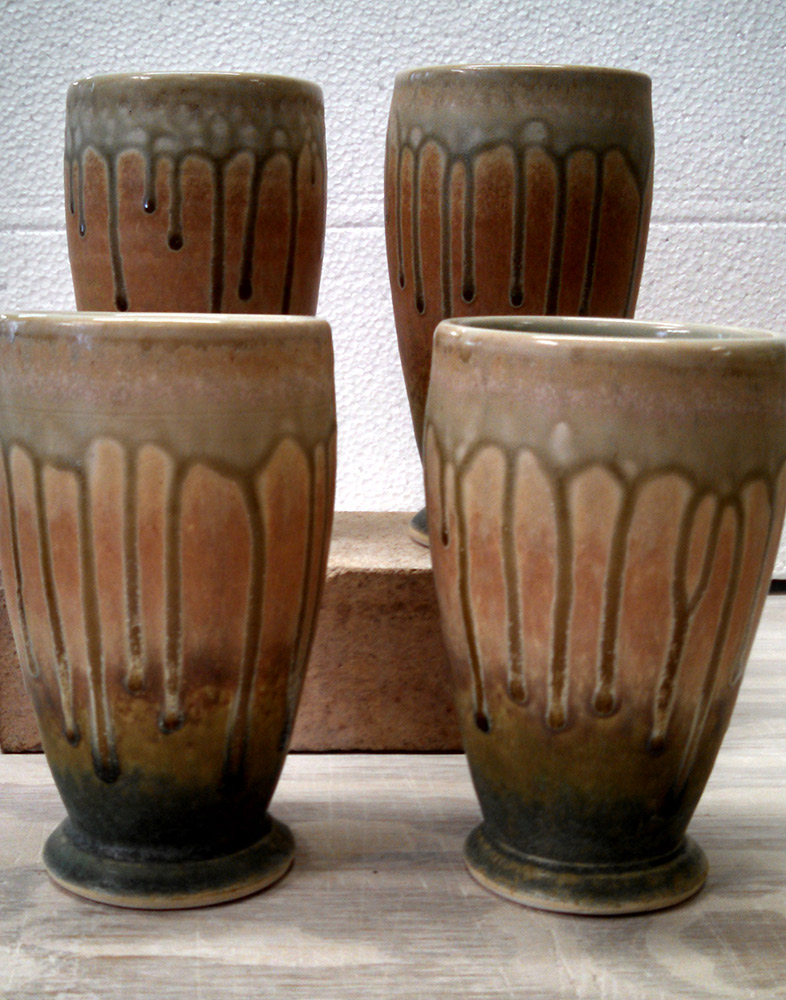 "Richard Aerni ""Tumblers"" ceramic $42. each"
