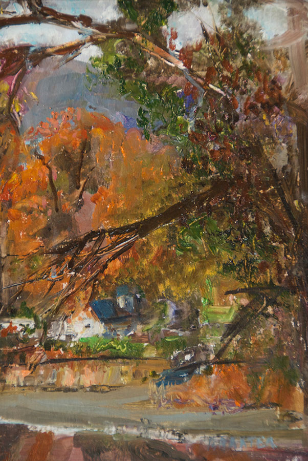 """Bruce Baxter """"Autumn Reflections I"""" 12x9 oil $600. INQUIRE *"""