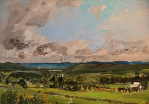"Bruce Baxter ""Waneta Valley Goldenrod"" 12x16 oil $800."
