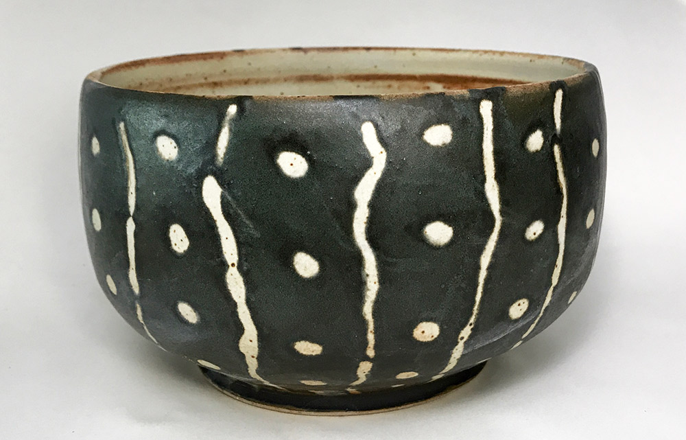 "Alan and Rosemary Bennett ""Whale Shark Bowl"" 4x6.25 clay $95."