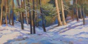 """Anne L. Bialke """"Long Winter Shadows"""" 8x16 oil $450."""
