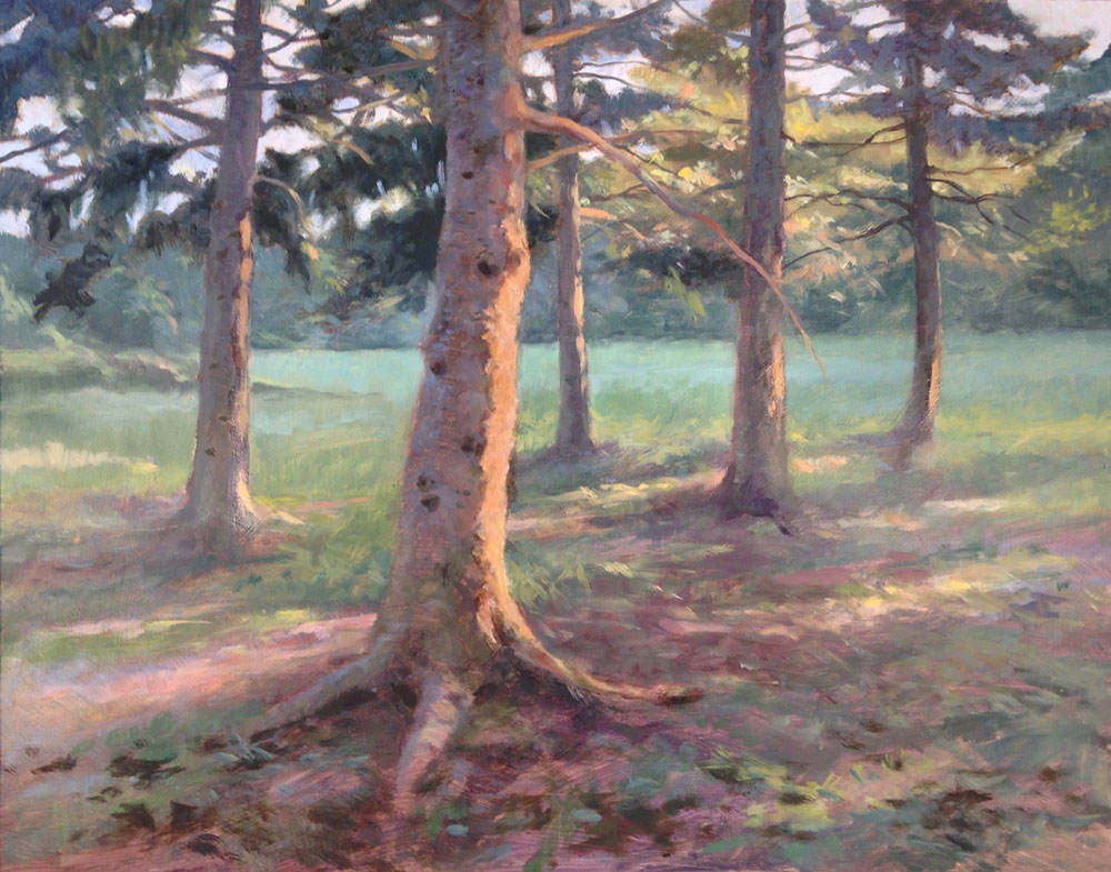 "Anne L. Bialke ""My Trees, Years Later"" 16x20 oil $895."