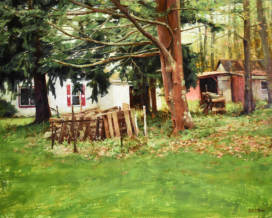 "Bibi S. Brion ""A House in the Country XI"" 16x20 oil $1,975."