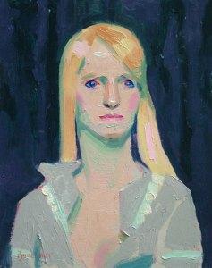 """Thomas S. Buechner """"Meredith"""" 10x8 oil $1,970. framed"""