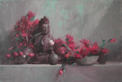 "Thomas S. Buechner ""Buddha #1"" 24x36 oil $7500."