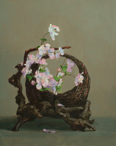"Thomas S. Buechner ""Japanese Basket"" 20x16 oil $3,390."
