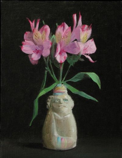 "Thomas S. Buechner ""Lilies in Chief"" 12x9 oil $2,410."