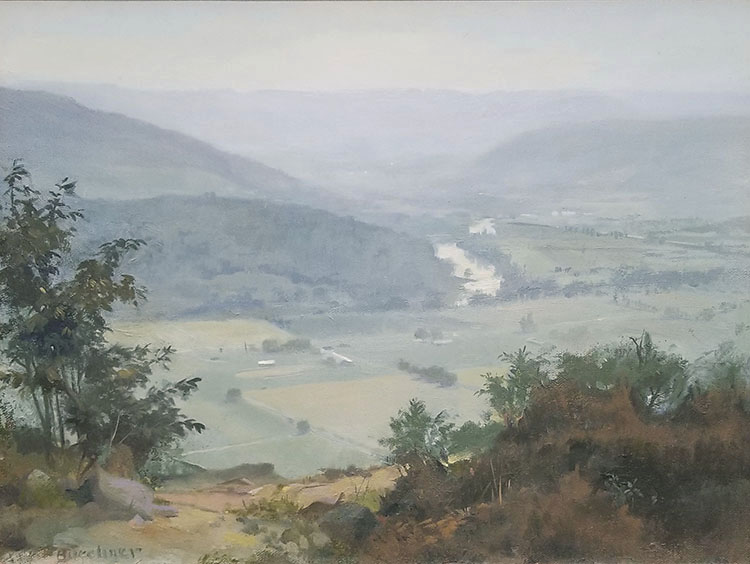 "Thomas Buechner ""Chemung Valley"" 12x16 oil $3,000."