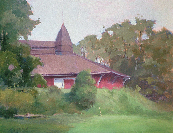 "Thomas Buechner ""Eldridge Park Dance Hall"" 11x14 oil $2,570."