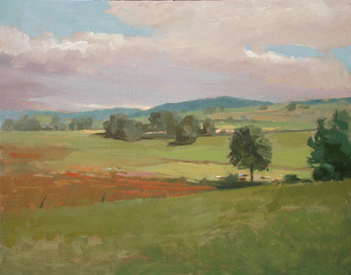 "Thomas S. Buechner ""Markle France II"" 11x14 unframed oil $2,420."