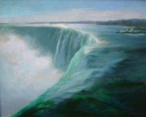 "Thomas S. Buechner ""Niagara Falls"" 24x30 framed oil $5,600."