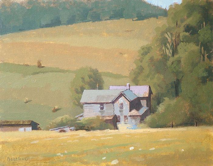 "Thomas S. Buechner ""Caton Tenant House"" 11x14 oil $2,570."