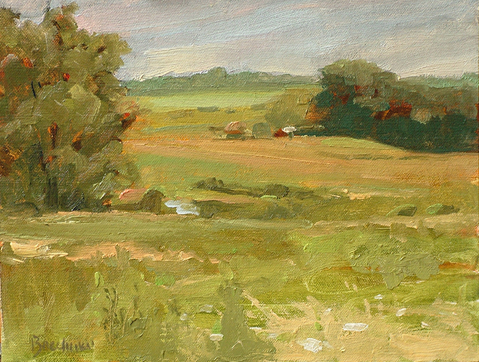 "Thomas S. Buechner ""View from Monroe's"" 8x10 oil $1,970."