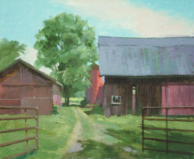 "Thomas S. Buechner ""Voorhees' Barn"" 10x12 oil $2,410."