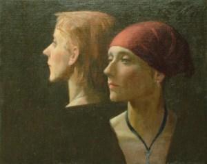 "Thomas S. Buechner ""Amelia & Jennifer"" 16x20 oil $3,390."
