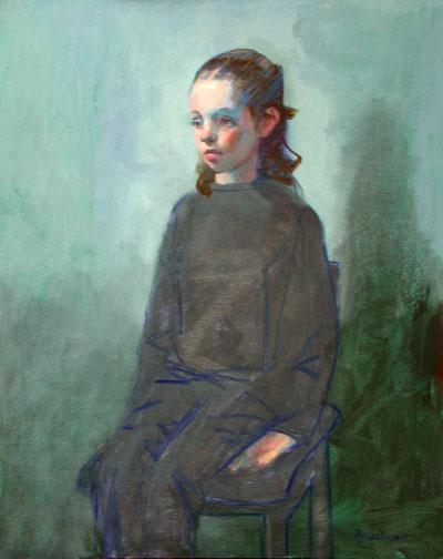 """Thomas S. Buechner """"Caitlin Palmer"""" 20x16 oil $3,290"""