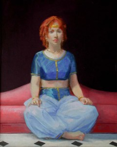 "Thomas S. Buechner ""Esther"" 20x16 unframed oil $3,190."