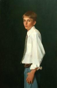 "Thomas S. Buechner ""Fletcher Monroe I"" 42x28 oil $9,000."