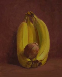 "Thomas Buechner ""Bananas and Kiwi"" 10x8 oil $1,970"
