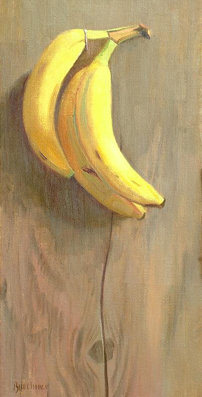 "Thomas S. Buechner ""Hanging Bananas"" 20x10 $3,100. (unframed)"