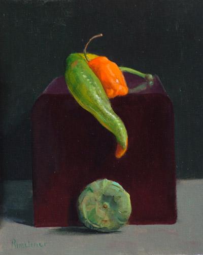 """Thomas S. Buechner """"Longing Pepper"""" 10x8 oil $1,970."""