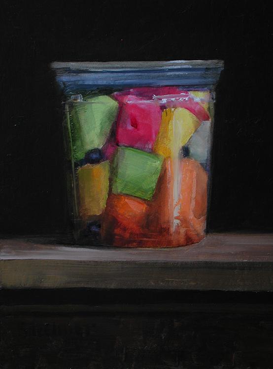 "Thomas S. Buechner ""Melon Squares II"" 10x8 oil $1,970."