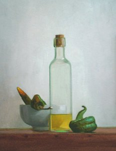 """Thomas S. Buechner """"Oil and Peppers"""" 14x11 $2,570. framed"""