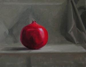 """Thomas S. Buechner """"Pomegranate"""" 11x14 unframed oil $2,420."""
