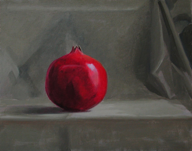 "Thomas S. Buechner ""Pomegranate"" 11x14 unframed oil $2,420."