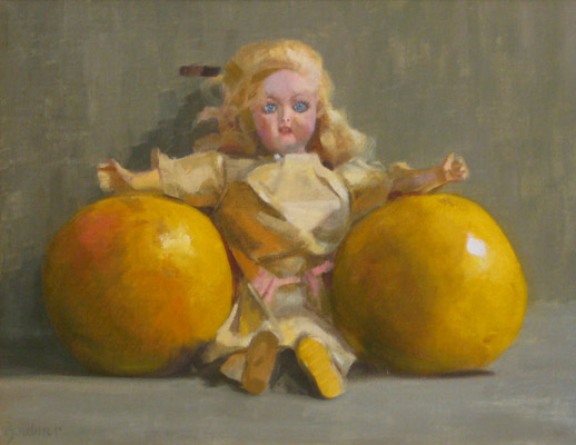 "Thomas S. Buechner ""Some Grapefruit"" 11x14 oil $2,570."