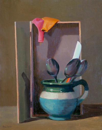 "Thomas S. Buechner ""Spoon Jar"" 14x11 oil $2,570."