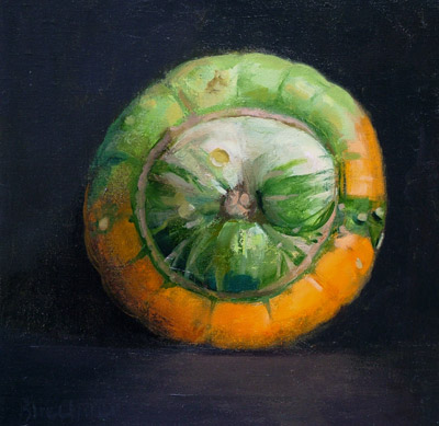 "Thomas S. Buechner ""Turban Squash"" 12x12 oil $2,600."
