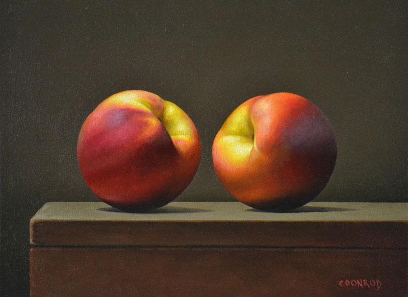 """Trish Coonrod """"2 Peaches"""" 11x14 oil/c $950. SOLD"""