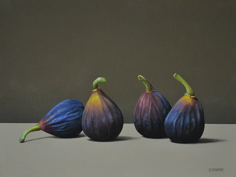 "Trish Coonrod ""4 Figs"" 9x12 oil/aluminum panel $895. SOLD"