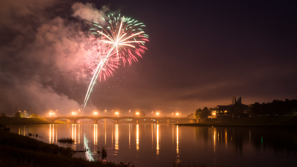 Fireworks over Corning (photographer unknown)