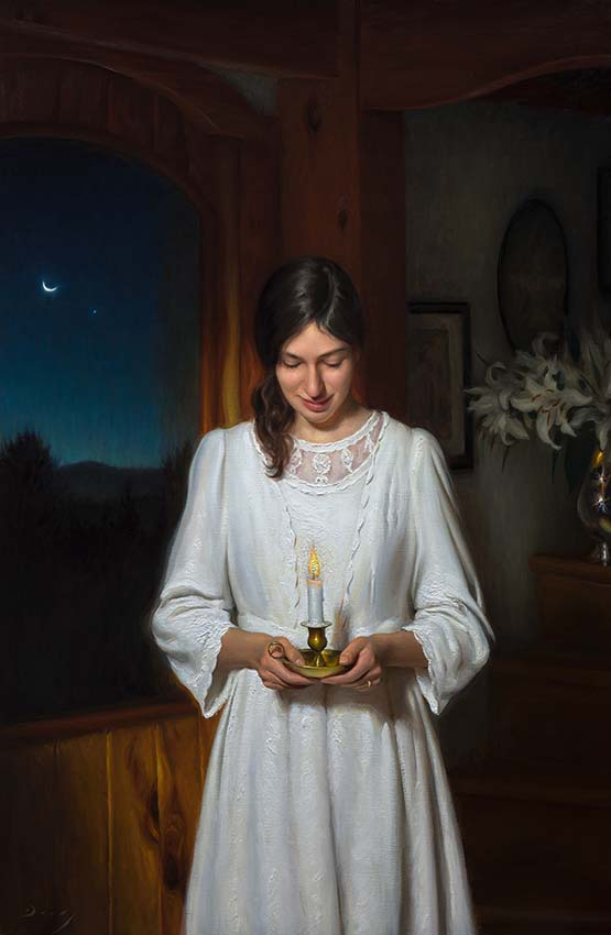"Joseph Q. Daily ""Maria's Wish"" 55x36 oil $14,000. Inquire"