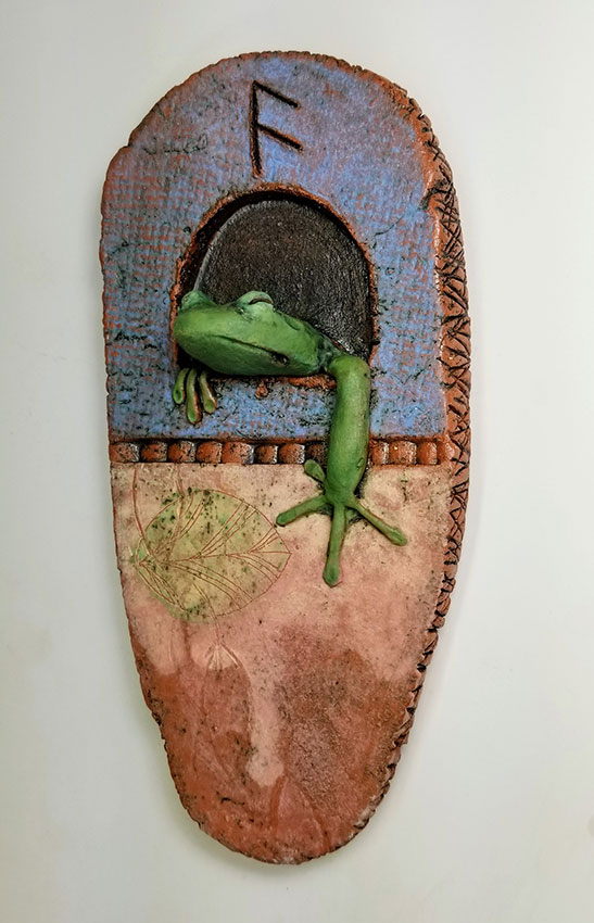 """Carolyn Dilcher-Stutz """"Frog Reliquary"""" Inquire"""