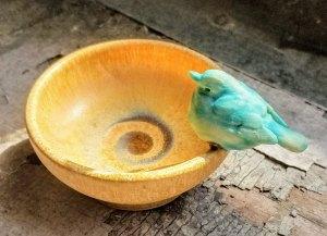 """Carolyn Dilcher-Stutz """"Yellow Bird Bowl"""" Inquire"""