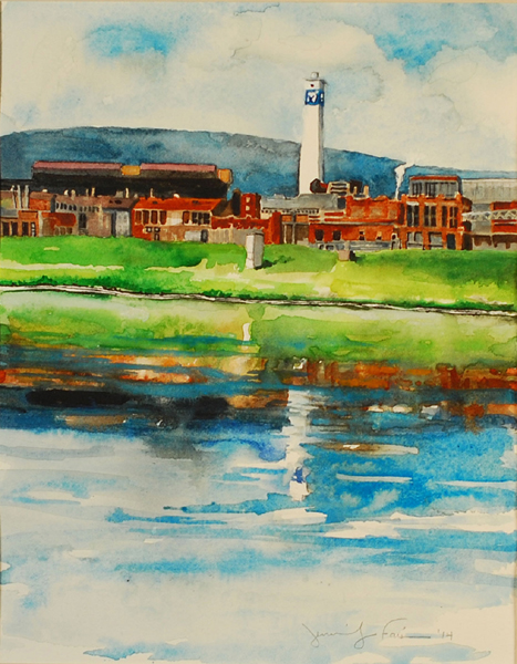 "Jennifer Fais ""Time's Past: Main Plant"" 9x7 watercolor $250."