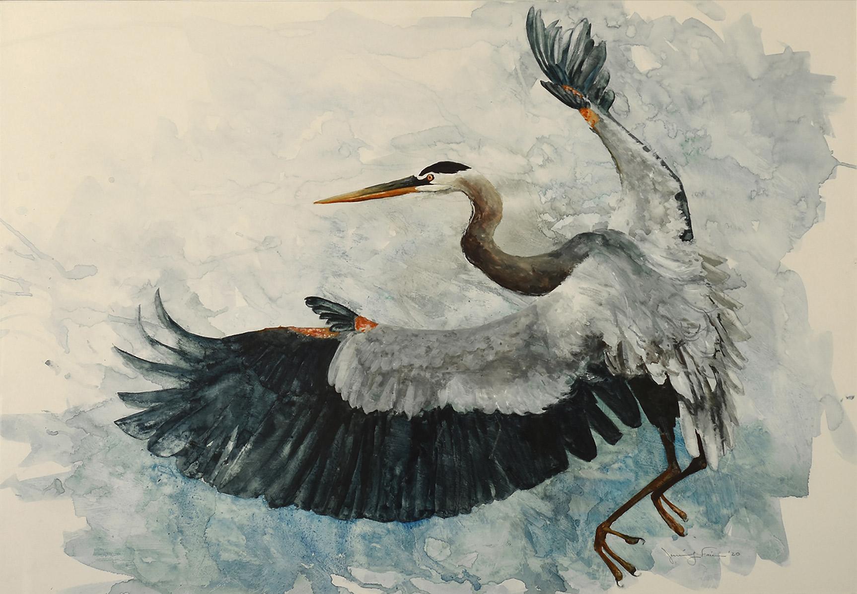 "Jennifer Fais ""Upsweep"" 20x29 watercolor/acrylic $950."