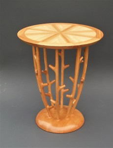 "Tracy Fiegl ""Bramble"" 24x24x28 handcrafted furniture $2,850."