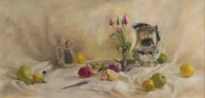 "Rebecca Finch ""Wedding Vows"" 12x24 oil $875."