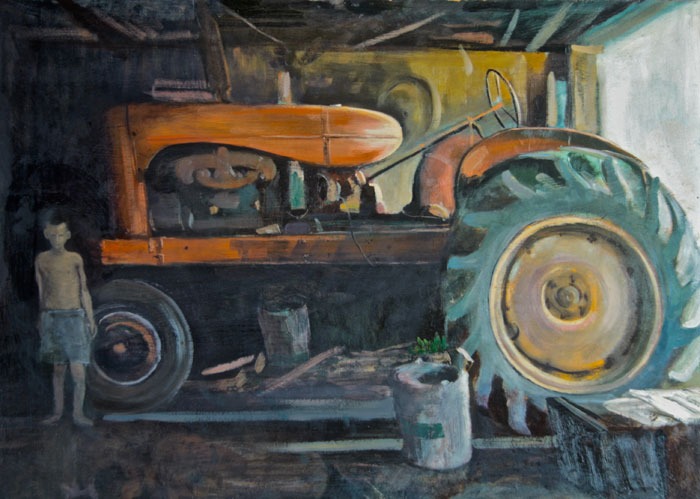 "Tom Gardner ""Allis Chalmers"" 22x28 oil $2,200."