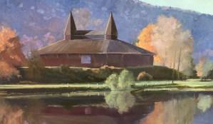 """Tom Gardner """"Eldridge Park Dance Hall"""" 18x30 oil $1,950."""
