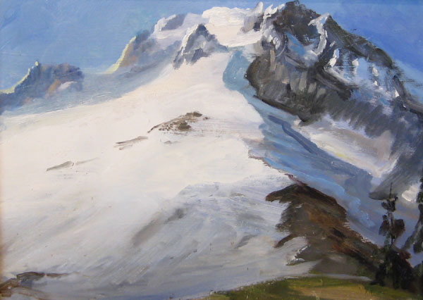 "Tom Gardner ""Mt. Hood - Study"" 9x12 oil $900."