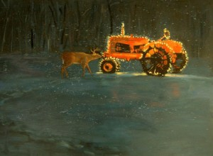 """Tom Gardner """"Redneck Christmas"""" 18x24 oil $1,800."""